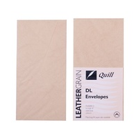 Quill Leathergrain Envelopes DL Natural 25s