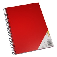 Quill Brights Visual Art Diary PP Cover A4 110gsm120 Page Red
