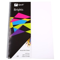 Quill Brights Visual Art Diary PP Cover A3 110gsm 120 Page Frosted