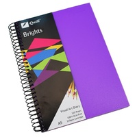 Quill Brights Visual Art Diary PP Cover A5 110gsm 120 Page Dark Purple