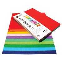 Quill XL Multiboard 210gsm A4 Assorted Colours Pk100s