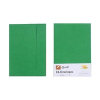 Quill C6 Envelopes 80gsm Emerald Green Pk25