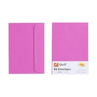 Quill C6 Envelopes 80gsm Hot Pink Pk25