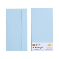 Quill DL Envelopes Peel & Seal Powder Blue 25s