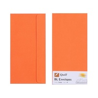 Quill DL Envelopes Peel & Seal Orange 25s
