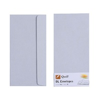 Quill DL Envelopes Peel & Seal Grey 25s