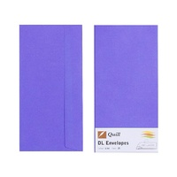 Quill DL Envelopes Peel & Seal Lilac 25s