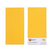 Quill DL Envelopes Peel & Seal Sunshine 25s