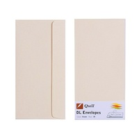 Quill DL Envelopes Peel & Seal Cream 25s