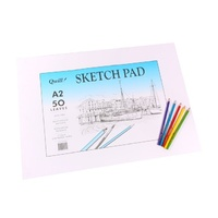 Quill Premium Sketch Pad A2 50 leaf 110gsm Cartridge Paper