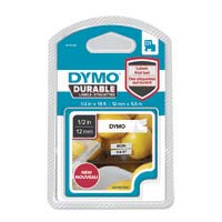 Dymo D1 Durable Labelling Tape 12mm Black on White