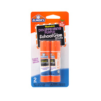 Elmer's Disappearing Purple School Glue Sticks 22g Pk2