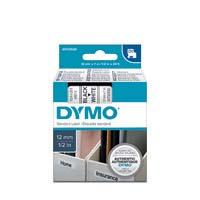Dymo D1 Label Cassette 12mmx7M Black On White
