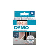Dymo D1 Label Cassette 12mmx7M Red On White