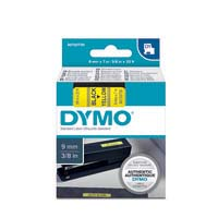 Dymo D1 Label Cassette - 9mmx7M Black On Yellow