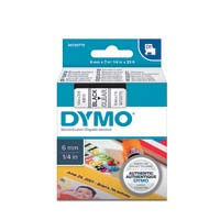 Dymo D1 Label Cassette 6mmx7m Black on Clear