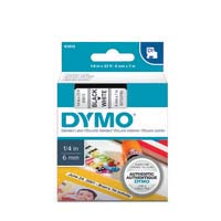 Dymo D1 Label Cassette 6mmx7m Black on White