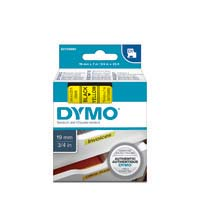Dymo D1 Label Cassette 19mmx7m Black on Yellow