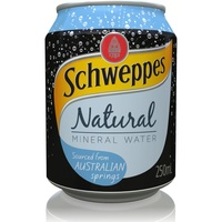Schweppes Natural Mineral Water 250mlx24 Can