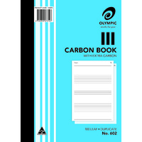 Olympic Ruled Carbon Book 602 Duplicate 100 Leaf A4 210X297mm
