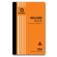 Olympic Carbonless Record Book 704 Duplicate 50 Leaf 200X125mm