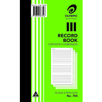 Olympic Carbonless Record Book 705 Triplicate 50 Leaf 200X125mm
