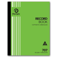 Olympic Carbonless Record Book 707 Triplicate 50 Leaf 250X200mm
