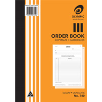 Olympic Carbonless Order Book 740 Duplicate 50 Leaf A4 210X297mm