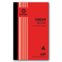 Olympic Carbon Order Book 639 Triplicate 100 Leaf 200X125mm