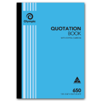 Olympic Carbon Quotation Book 650 Duplicate 100 Leaf A4 297X210mm