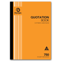 Olympic Carbonless Quote Book 750 Duplicate 50 Leaf A4 210X297mm