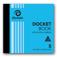 Olympic Carbon Docket Book No 5 Duplicate 50 Leaf 120x125mm SO