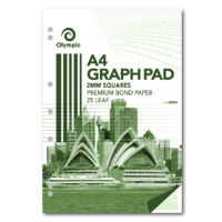Olympic Graph Pads A4 2mm Grid