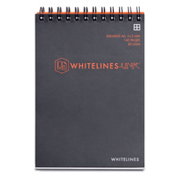 Whitelines A6 8mm Lined 140 page Spiral Top Opening Notebook