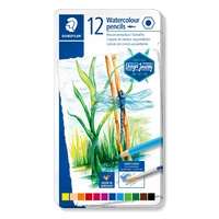 Staedtler Design Journey Watercolour Pencils Asst Tin 12
