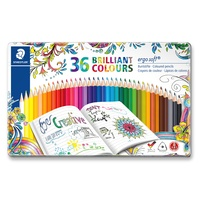 Staedtler 157 Ergo Soft Coloured Pencils Tin of 36