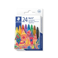 Staedtler 220 Noris Club Wax Crayons 8mm Assorted Bx24