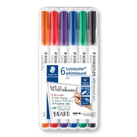 Staedtler 301 Lumocolor Whiteboard Pen Assorted of 6