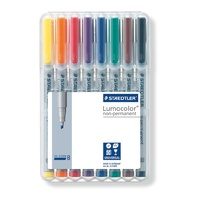 Staedtler 312 Lumocolor Pen Non Permanent Broad 2.5mm Wlt8