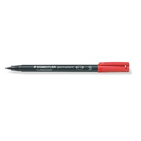 Staedtler 313 Lumocolor Pen Permanent Superfine 0.4mm Red