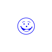 Shiny Merit Stamp Smiley Face Blue