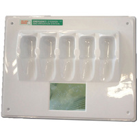 First Aiders Choice Eye Wash Wall Plate 11960 Hold 5 x 100mL Bottles
