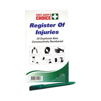 First Aiders Choice Register of Injuries 47850