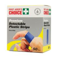 First Aiders Choice Premium Extra Wide Blue Strips 69040 for Food Prep Bx50