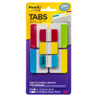 3M POST-IT DURABLE INDEX TABS #686-VAD2 50mm + 25mm Tabs Asst. Colours Combo Pack