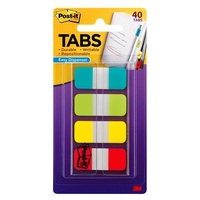 Post-it Notebook Durable Tabs 15.8x 38.1mm Pk40 676-ALYR Aqua Lime Yellow