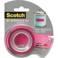 Scotch Expressions Magic Tape & Dispenser - C214-Pnk-D 19mm X 7.6M Pink