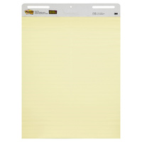 Post-it Lined Easel Pad Canary Yellow 635x762mm 561