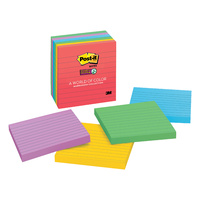 3M Post-It Notes #675-6SSAN Super Sticky Neon Lined  101 x 101mm Marakesh