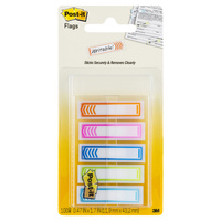 3M POST-IT FLAGS PRIORITIZATION FLAGS #684-SH-NOTE  24mm x 43mm - Sign Here - Assorted Colours 100pk